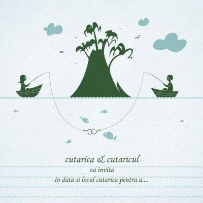 Inkpaperart - Invitatii creative - Munte Pescuit