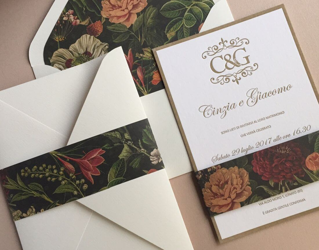 Invitatii Nunta Ink Paper Art Cinzia & Giacomo - 1100px - 1