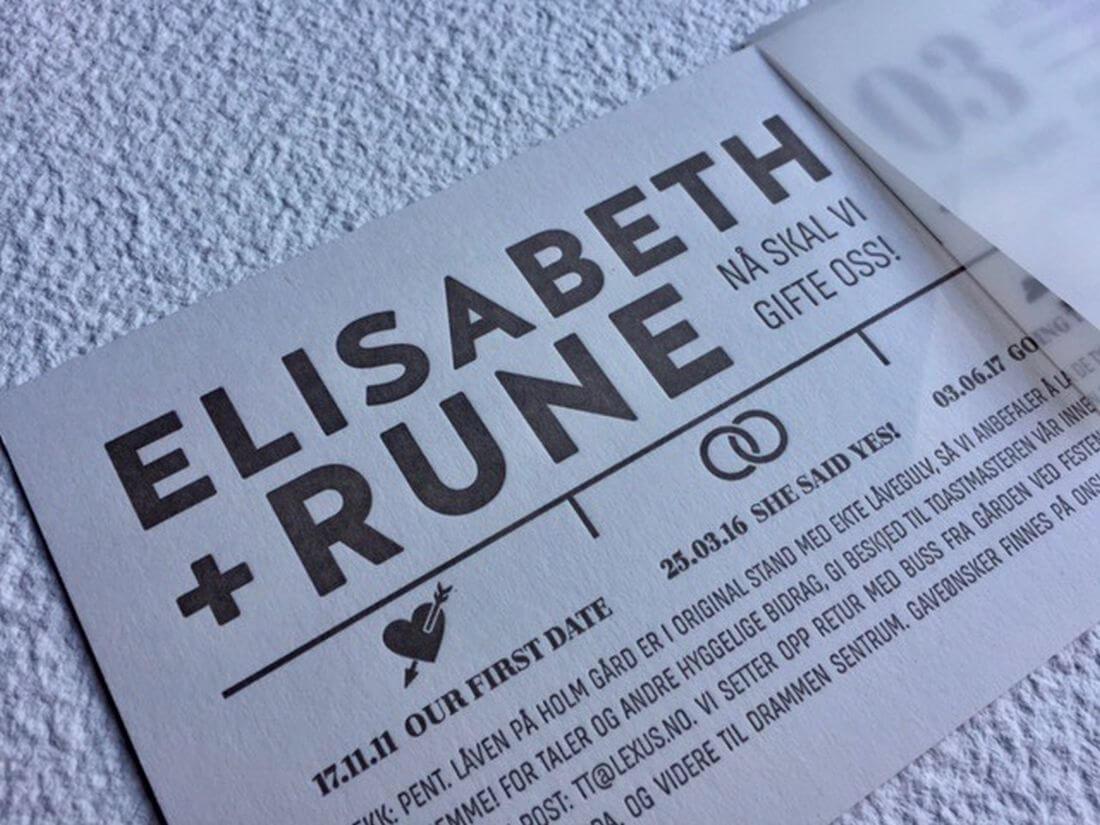 Invitatii Nunta Ink Paper Art Elisabeth & Rune - 1100px - 1