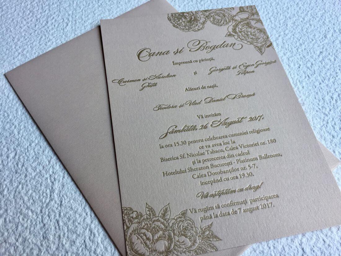 Invitatii Nunta - Ink Paper Art - Oana & Bogdan - 1100px - 6