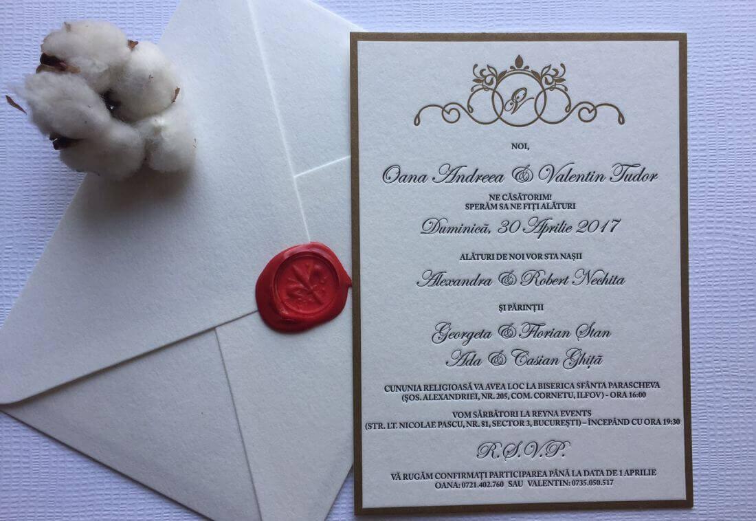 Invitatii Nunta - Ink Paper Art - Oana & Vali - 1100px - 1