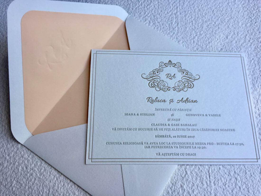 Invitatii Nunta - Ink Paper Art - Raluca & Adrian - 1100px - 3