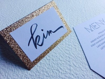 Place Cards - Ink Paper Art - Kim - 1100px - 1