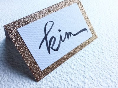 Place Cards - Ink Paper Art - Kim - 1100px - 2
