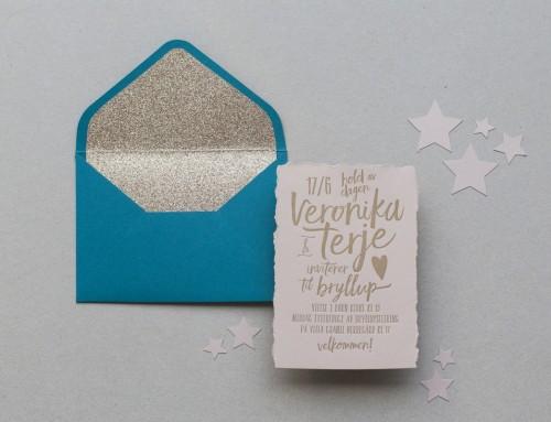 Invitación de boda letterpress Veronika & Terje